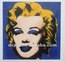 2012 Hot Selling Marilyn Monroe Portrait Oil Painting