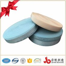 Eco-friendly woven twill polyester elastic webbing