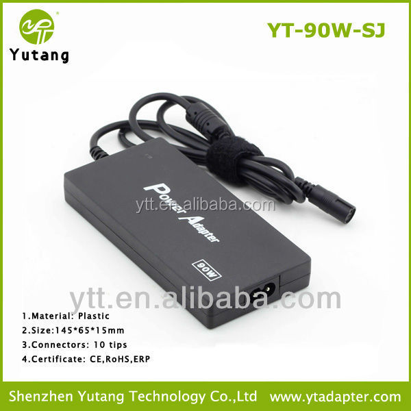 90W 15v-24v Slim universal automatic <strong>adapter</strong> for notebook with 10 tips
