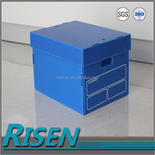 Eco-Friendly and Reusable Corrugated Plastic Storage Boxes with Folding Lid