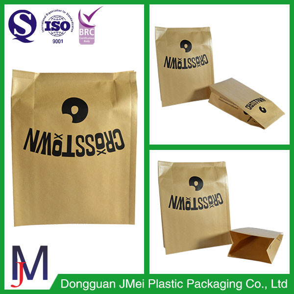 custom bag food plastic bags for plants laminate flat bottom kraft paper stand up packaging pouch