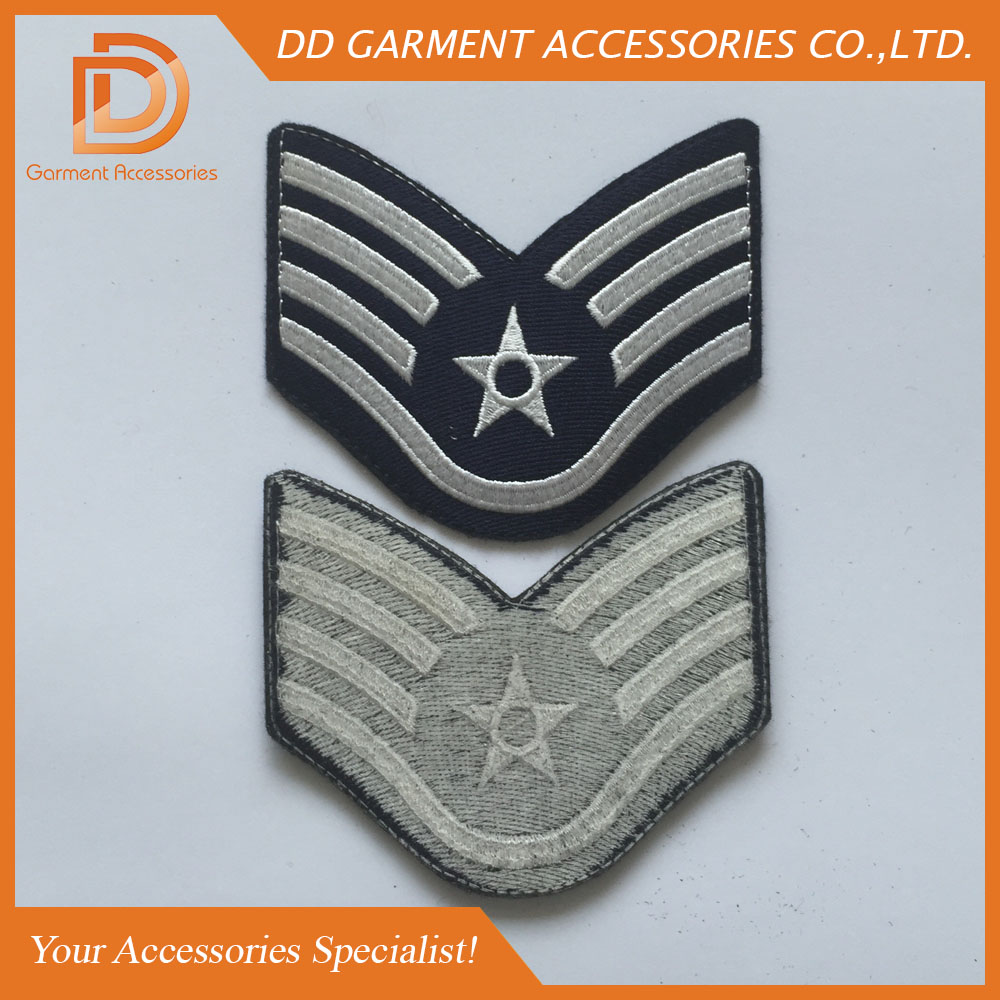 custom embroidered patch with adhesive back for cap