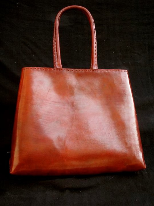real leather vintage colorful shopping bag from pushkar