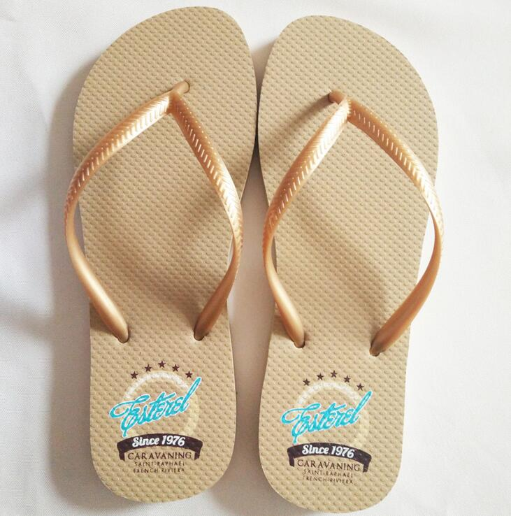 Customized printed promotional wholesale beach custom flip flops with low MOQ
