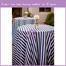 TY42702 cheap wholesale wedding custom 1 inch strip print high quality satin table cloth