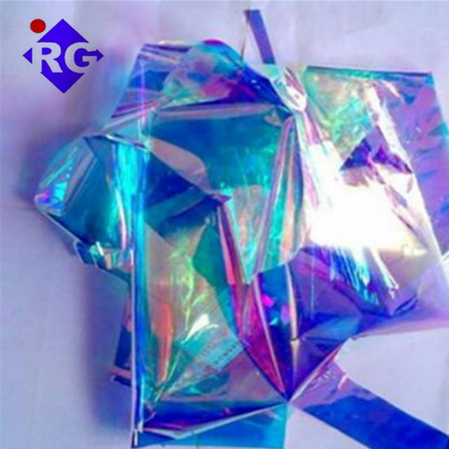 Fixed-price 1400mm Gold Color with Blue Bottom USA Original Dichroic <strong>Film</strong> for Crafts and Printing Packaging