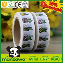 Succulent cactus potted plants green washi tape masking tape