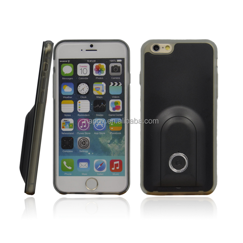 Unique Design Colorful PC+TPU Material Bluetooth Selfie Case for iPhone 6