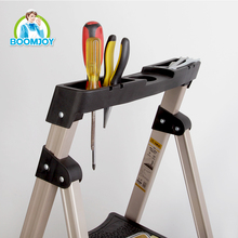 HOT SALE MULTIFUNCTION TELESCOPIC ALUMINUM LADDER WITH TOOL DEVICE