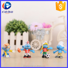 Cheap items to sell PVC cartoon toys 3D mini cute smurfs figure for wholesale