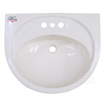 Oval shaped durable outdoor ABS plastic sink wash hand basin