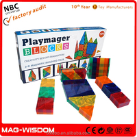 Playmags New Magnetic Building Tile Blocks Magna Tiles 100pcs