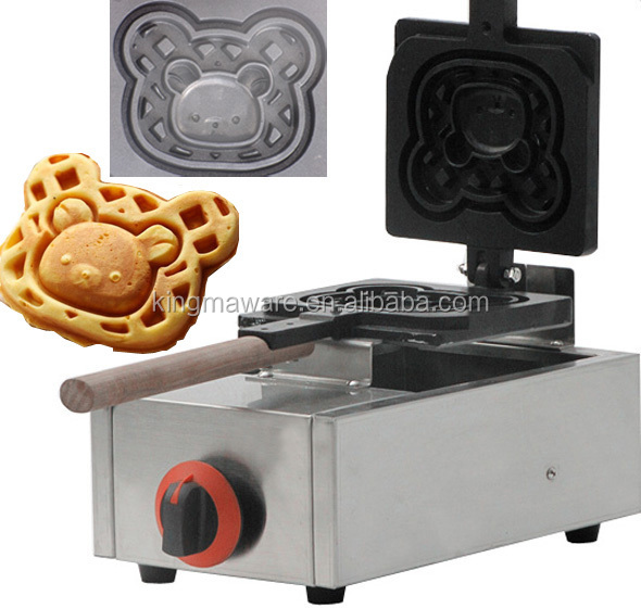 GAS style commercial winnie animal shaped waffle maker,rotary waffle maker