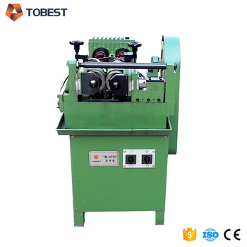 TOBEST stud bolt making machine small thread rolling machine for sale
