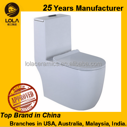 Modern Sitting WC Toilet Water Saving Siphonic Jet Flushing