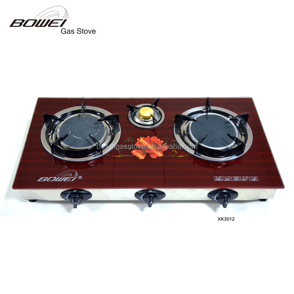 High Quality Cast Iron Infrared Stove 3 Burner Ceramic Gas Cooktop