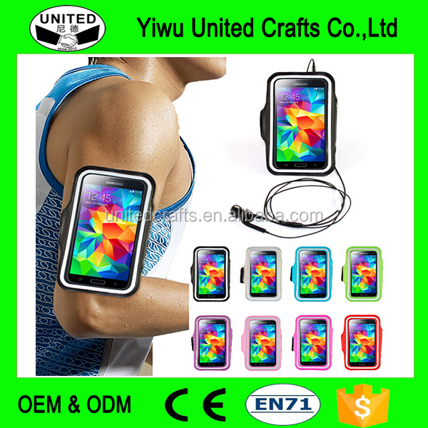 Customized Phone sport Bag Case/ PVC bag waterproof case phone running Wrist arm package