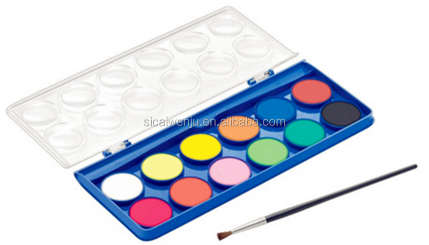 non toxic kids ARTIST PALETTE art paint drawing set with brush