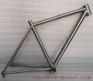 Custom titanium Travel bicycle frame XACD made titan touring bicycle frame Ti 48 CM travel bike frame