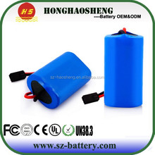 Long life cycle 18650 2s1p rechargeable 7.4v 3400mah li-ion battery packs