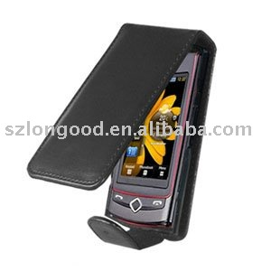 Black Leather Pouch for S8300 Tocco Ultra