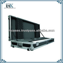 Keyboard Flight Case with Casters Black 88 Key