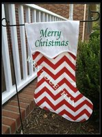 Christmas Decoration Canvas Stocking Garden Flag Wholesale