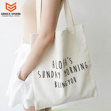 Promotional Custom Logo Printed Organic Calico Cotton Bag Canvas Tote Bag