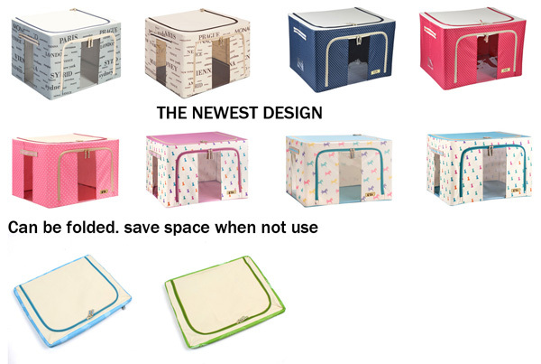 Factory Hottest High End Cardboard Ornament Fabric STORAGE BOXes
