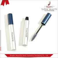 custom empty 8ml matte silver aluminum mascara bottle tube container