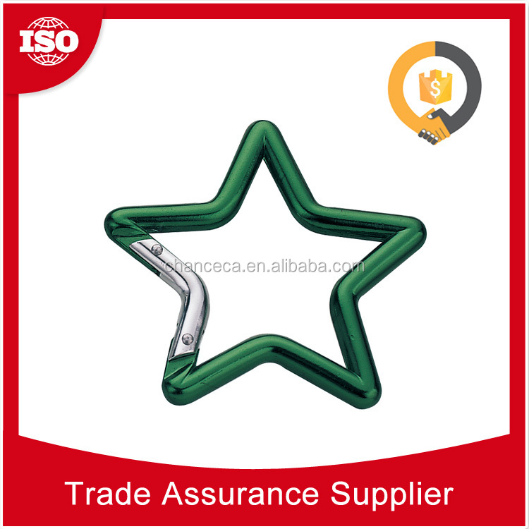 CHD2268 With 17 years experience Custom swivel climbing star shaped aluminum carabiner for bags