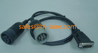 DB15P TO deutsch connectorsJ1708 J1939 Y Cable for heavy duty truck diagnostic laptop