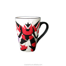 best selling products 3D Hand-painted cartoon iron man ceramic coffee mug