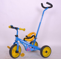 Hot sale 2 in 1 push&foot power car children tricycle toy with push bar for best quality and low price
