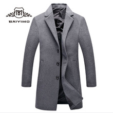 2018 OEM New Fashion Design Trench Overcoat Men Suit Winter Long Jackets Coat for Man