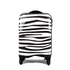 Promotion cheap price zebra stripes abs pc sky travel trolley luggage bag