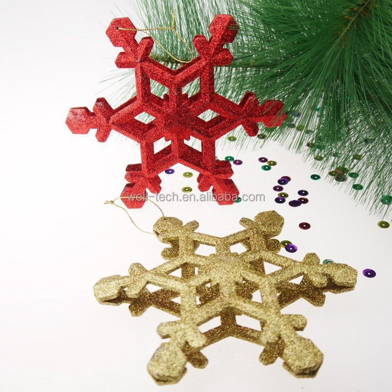 Christmas glittered snowflake ornament