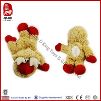 Unstuffed dog toy with squeaker plush pet toy for dog