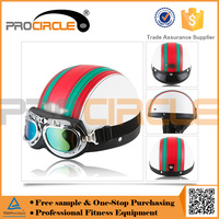 Classical Stripe Open Face Vintage Motorcycle Helmet