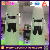inflatable dummy football bubble player for sport training
