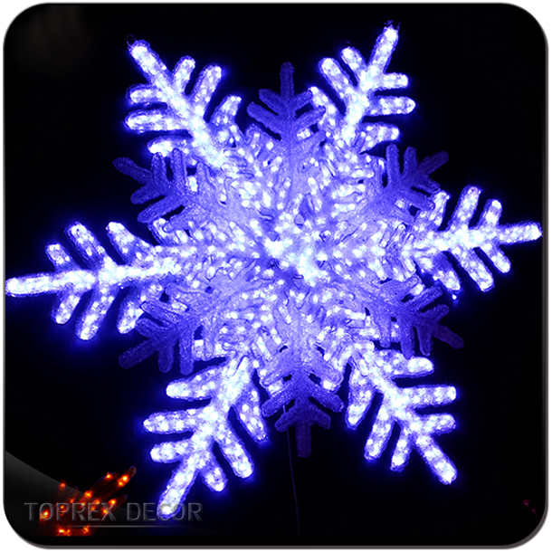 Outdoor Snowflake Sculpture Lights Garden Wall Decoration For Christmas