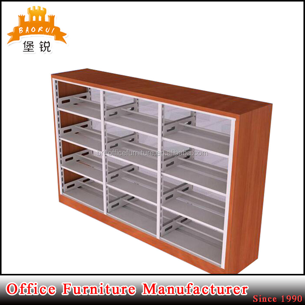 BAS-064 factory supply can customized steel furniture school library book rack shelf