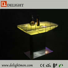 Cafe shop table outdoor ip65 glowing 16 color wireless control new model led glowing dining tables