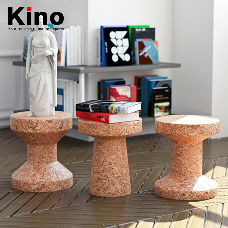 unique design cork stool wood small leisure side table
