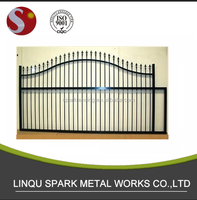 ZINC OUTDOOR GATES AND STEEL FENCE