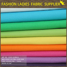 Wholesale 100% cotton fabric 100 cotton twill fabric for pants/dress/t-shirt