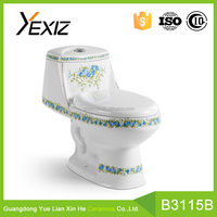 A3115B fashion bathware ceramic siphonic one piece western toilet