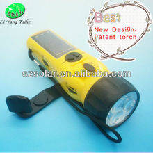 LY-SD5020 Solar hand crank led dynamo flashlight with mobile charger radio