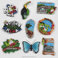Square fridge magnets Costa rica tourism souvenirs