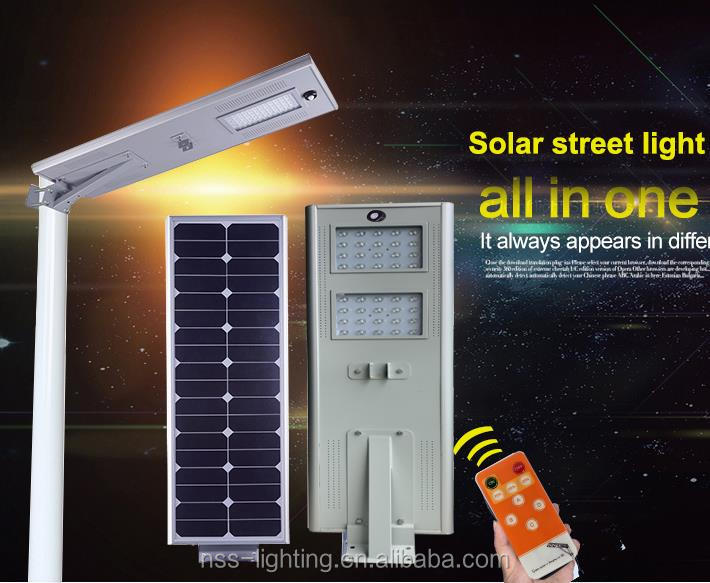 Save time cost dimmable streetlight led outdoor garden street high power integrated solar light
